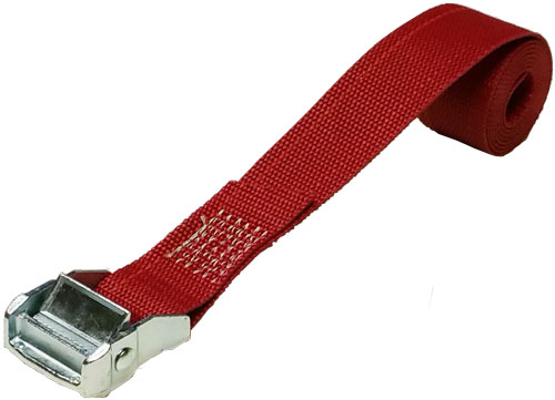 1.5 INCH CINCH STRAP 4 FT RED