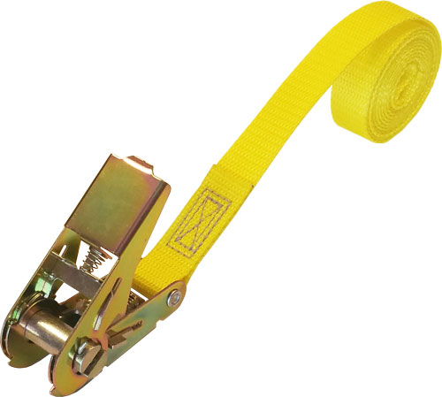 CINCH-STRAP RATCHET 6 FT YELLOW